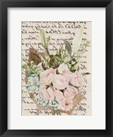 Wrapped Bouquet II Framed Print
