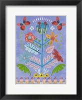 Embroidered Garden I Framed Print