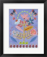 Embroidered Garden II Framed Print