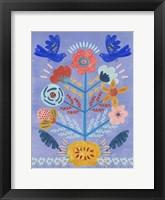 Embroidered Garden III Framed Print