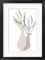 Vase & Stem I Framed Print