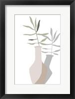 Vase & Stem III Framed Print