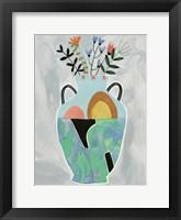 Collage Vase IV Framed Print