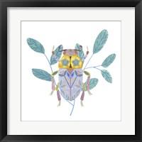 Floral Beetles III Framed Print
