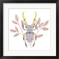 Floral Beetles V Framed Print