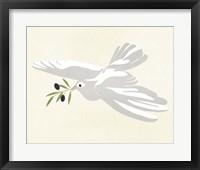 Olive Branch Dove I Framed Print