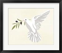 Olive Branch Dove II Framed Print