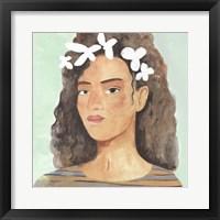 Folk Art Portrait III Framed Print