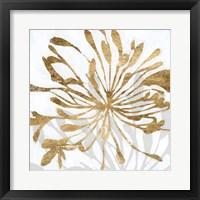 Framed Golden Gilt Bloom I