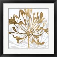 Framed Golden Gilt Bloom II