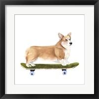 Pups on Wheels III Framed Print