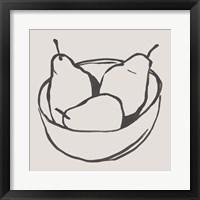 Simple Pear I Framed Print