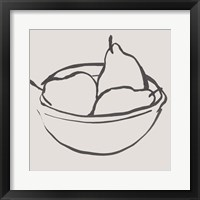 Simple Pear II Framed Print