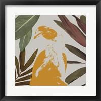 Framed Graphic Tropical Bird II