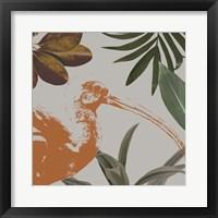 Graphic Tropical Bird VI Framed Print