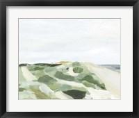 Coastline Greenery I Framed Print