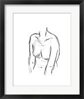 Sketched Figure I Framed Print
