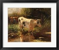 Framed Cow Beside a Ditch, c. 1885-1895