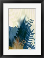 Welcome to the Jungle, Blue 1 Framed Print
