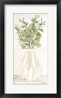 Geometric Vase I Framed Print