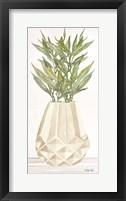Geometric Vase II Framed Print