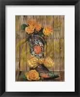 Rosey Cowboy Boots I Framed Print