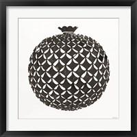 Tile Vase 3 Framed Print