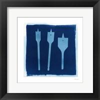 Cyanotype Tools VII Framed Print