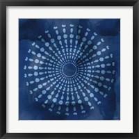 Indigo Splash V Framed Print