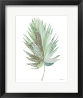Boho Tropical Leaf IV Green Framed Print