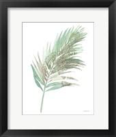 Boho Tropical Leaf III Green Framed Print