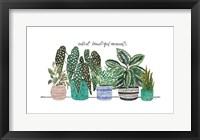 Happy House Plants II Framed Print