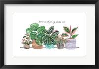 Happy House Plants I Framed Print