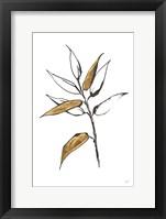 Leafed V Framed Print