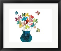 Framed Butterfly Bouquet on White