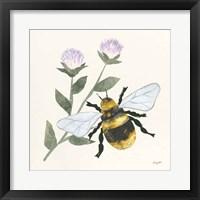 In the Garden Bee Framed Print