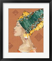 African Flair VII Warm Framed Print