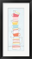 Stack of Cups II Pastel Framed Print