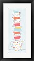 Stack of Cups I Pastel Framed Print