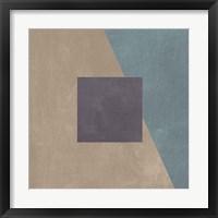 Blue Silk Abstract II Framed Print
