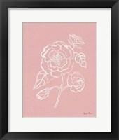 Joyful Peonies IV Pink Framed Print