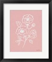 Joyful Peonies I Pink Framed Print