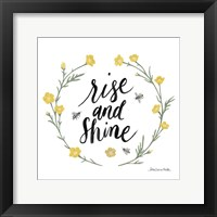Happy to Bee Home Words IV Framed Print