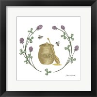 Happy to Bee Home IV Yellow Framed Print