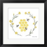 Happy to Bee Home III Yellow Framed Print