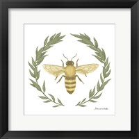 Happy to Bee Home I Yellow Framed Print