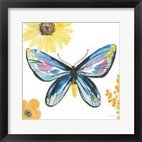 Beautiful Butterfly III Blue No Words Framed Print