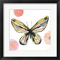 Beautiful Butterfly II Teal No Words Framed Print