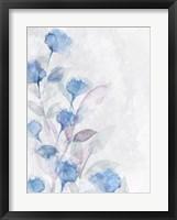 Modern Poppies 1 Blue Framed Print