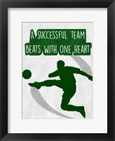 One Heart Beat Framed Print